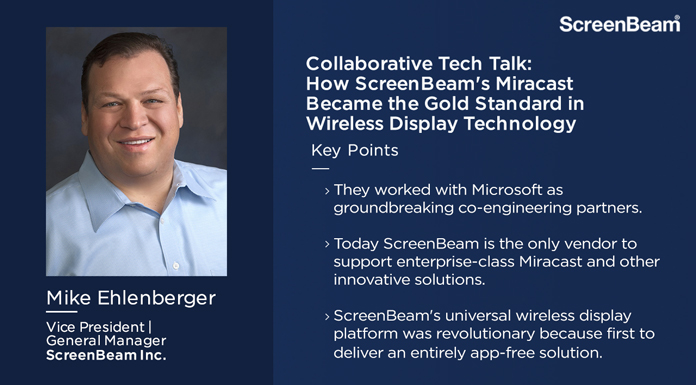 Collaborative Tech Talk: How ScreenBeam Became the Gold Standard in Wireless Display Technology