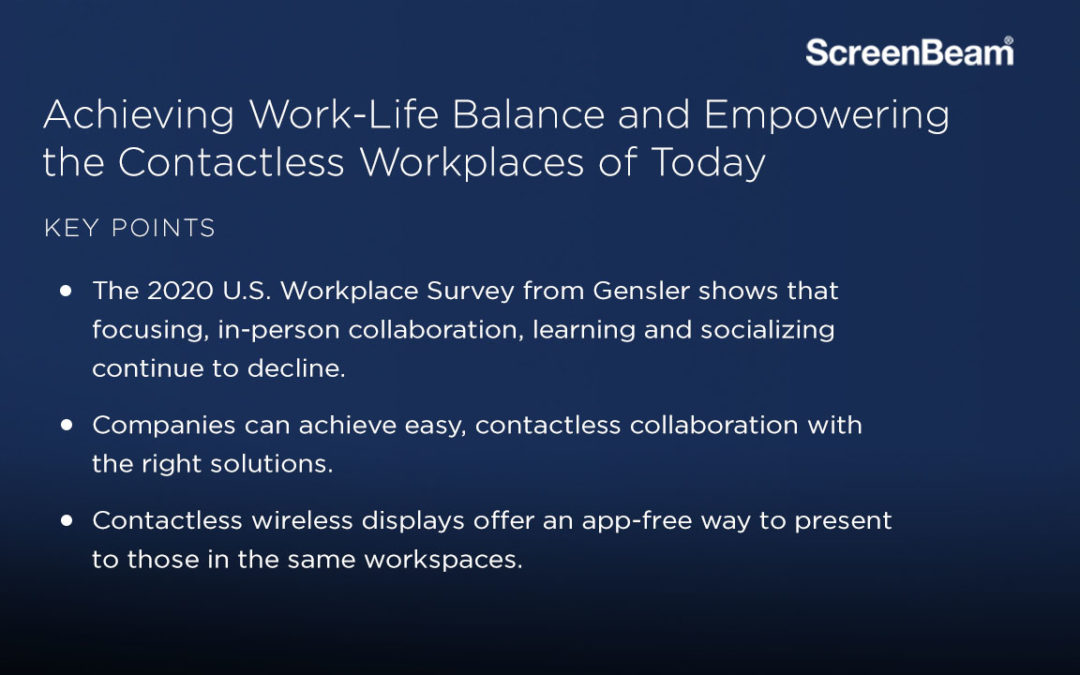 Achieving Work-Life Balance and Empowering the Contactless Workplaces of Today
