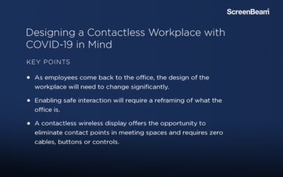 Designing a Contactless Workplace with COVID
