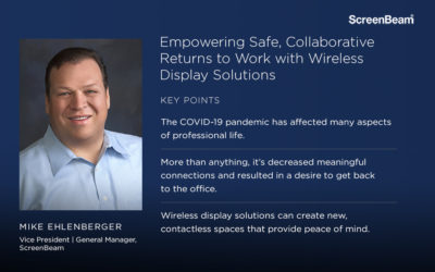 Empowering Safe, Collaborative Returns to Work with Wireless Display Solutions