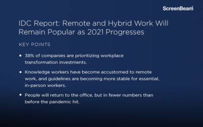 IDC Report: Remote and Hybrid Work Will Remain Popular as 2021 Progresses