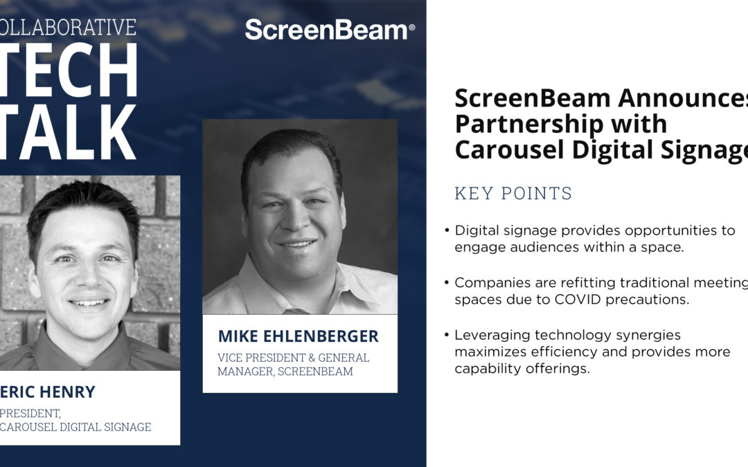 Carousel Digital Signage Partnership ScreenBeam