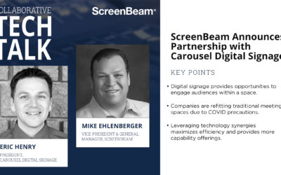 Collaborative Tech Talk: ScreenBeam Announces Partnership with Carousel Digital Signage